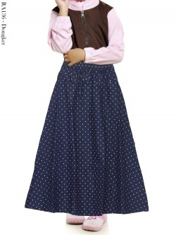 RA136 Rok Jeans Anak Payung Motif