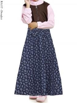RA137 Rok Jeans Payung Anak Bunga