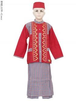 BML1199 (7-12) Baju Koko Anak Celana Sarung