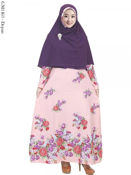 GKS1463 Gamis Syar'i Balotelly Hijab Crepe