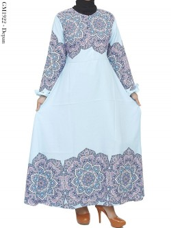 GM1922 Gamis Katun Balotelly Motif