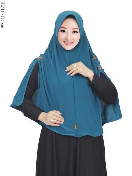 JL741 Jilbab Twiss Pet Antem Kerut Kancing