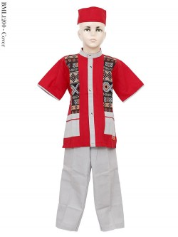 BML1200 (4-6) Baju Koko Anak Katun Songket