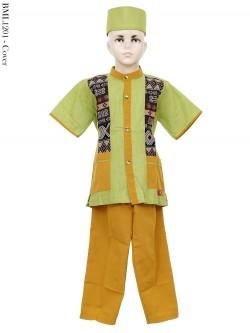 BML1201 (7-12) Baju Koko Anak Katun Songket