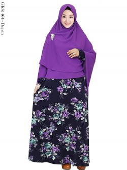 GKS1464 Gamis Syar'i Hijab Pet Antem Crepe