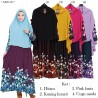 GKS1465 Gamis Syar'i Misby Hijab Cardi