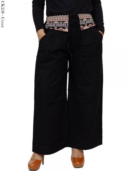 CK258 Celana Kulot Katun Cigaret List Batik
