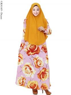 GKS1469 Gamis Syar'i Misby Hijab Cardi