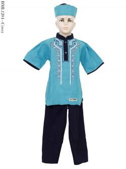 BML1204 (4-6) Baju Koko Anak Katun bordir