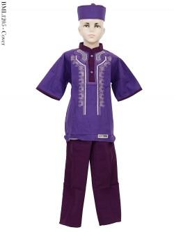 BML1205 (7-12) Baju Koko Anak Katun Bordir
