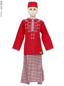 BML1207 (7-12) Baju Koko Anak Celana Sarung