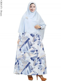 GKS1471 Gamis Misby Hijab Crepe Laser