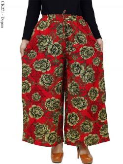 CK271 Celana Kulot Jumbo Katun Linen