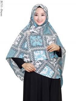 JL755 Jilbab Syiria Bubble Pop Batik