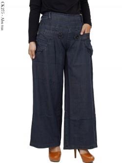 CK275 Celana Kulot Soft Jeans Polos