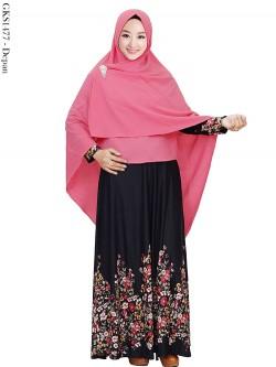 GKS1477 Gamis Syar'i Hijab Bubble Crepe