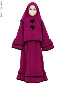 BMC1560 (10-12) Gamis syar'i Anak Jilbab Cardi