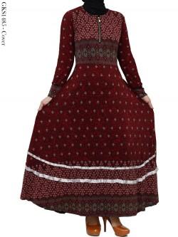 GKS1485 Gamis Jersey Payung Batik Pita