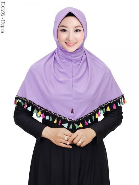 JLC202 Jilbab Tali Serut Jersey List Renda