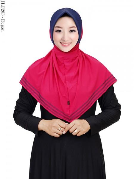 JLC203 Jilbab pet Tali Serut 2 Warna