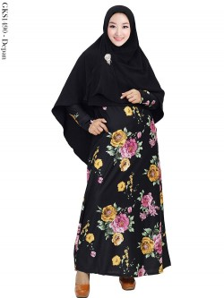 GKS1490 Gamis Syar'i Jersey Misby