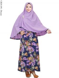 GKS1496 Gamis Syari Misby Hijab Crepe