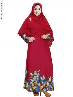 GKS1498 Gamis Syari Misby Hijab Wolfis Press