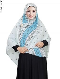 JL768 Jilbab Syiria Bubble Pop Batik