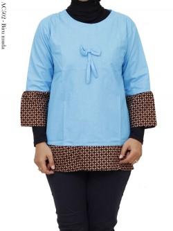 AC503 Blouse Wanita Katun List Batik