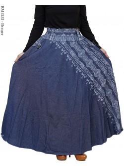 RM1252 Rok Jeans Payung Motif list Batik