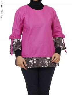 AC504 Blus Atasan Katun List Batik