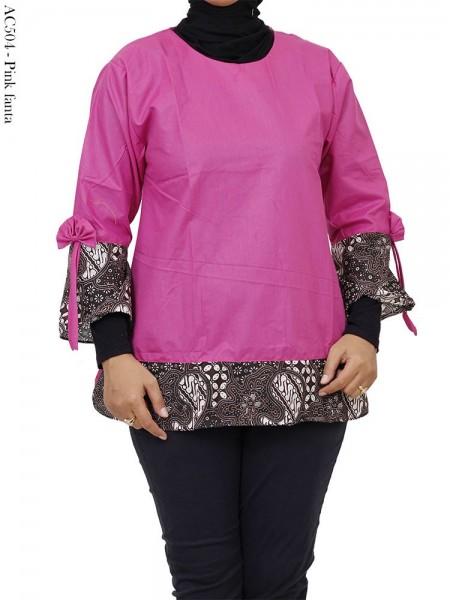 AC504 Blouse Wanita Katun List Batik