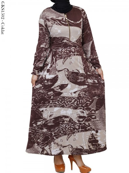 GKS1502 Gamis Umbrella Waffel Batik