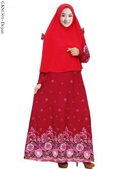GKS1504 Gamis Syar'i Misby Hijab Cardi Pita