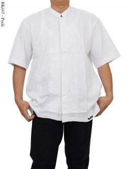 BK607 Baju Koko Putih Bordir Albatar