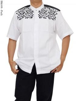 BK608 Baju Koko Lengan Pendek Albatar Bordir