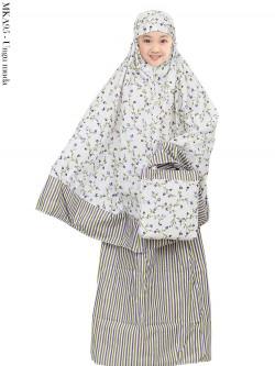 MKA95 Mukena Anak Katun Jepang Bunga