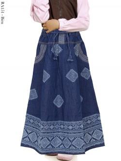 RA151 Rok Jeans Anak List Batik