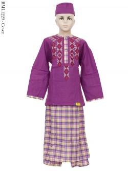 BML1229 (7-12) Baju Koko Anak Celana Sarung