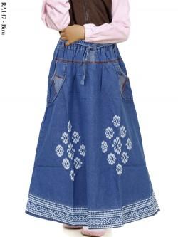 RA147 Rok Jeans Anak List Batik
