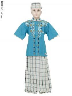 BML1231 (7-12) Baju Koko Anak Celana Sarung