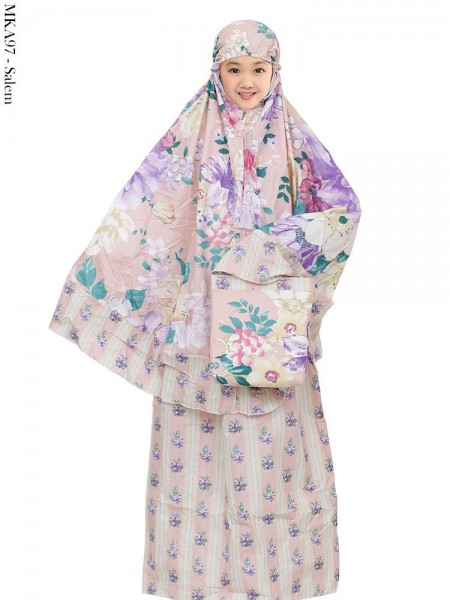 MKA97 Mukena Anak Katun Jepang Batik