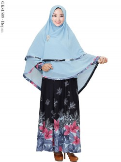 GKS1509 Gamis Syar'i Misby Hijab Ceruti 2 Layer