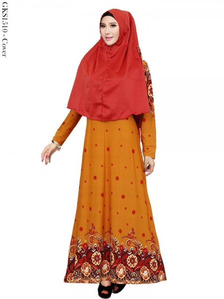 GKS1510 Gamis Syar'i Misby Hijab Cardi Pita