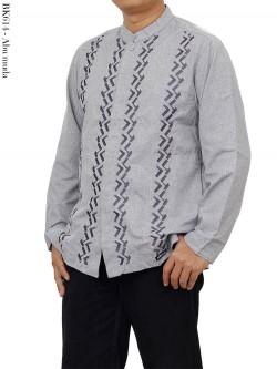 BK614 Baju Koko Albatar Lengan Panjang Bordir