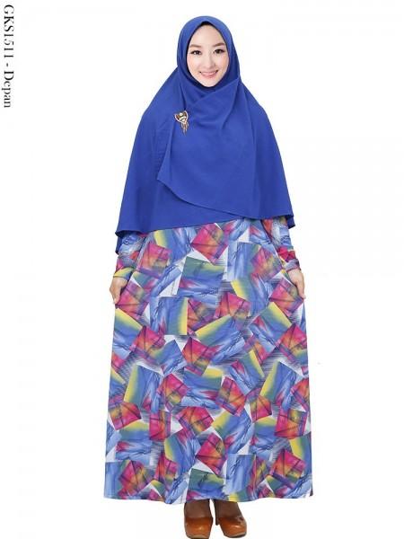 GKS1511 Gamis Syar'i Hijab Bubble Crepe