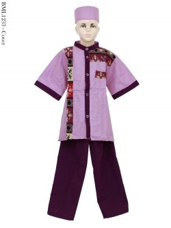 BML1233 (7-12) Baju Koko Anak Katun Songket