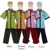 BML1232 (4-6) Baju Koko Anak Katun Songket