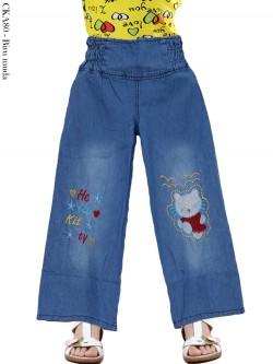 CKA08 Celana Kulot Jeans Anak Bordir