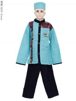 BML1234 (4-6) Baju Koko Anak Katun Songket
